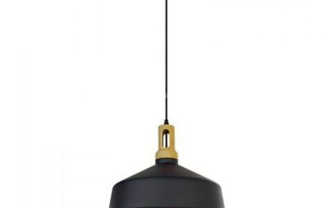 Historické závesné svietidlo Puley s čiernym tienidlom V TAC je kvalitné závesné svietidlo značky V TAC. 1 1 670x420 - Historické závesné svietidlo Puley s čiernym tienidlom