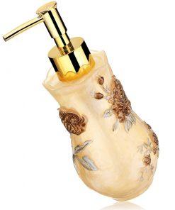Prepracovaný dávkovač mydla - golden roses