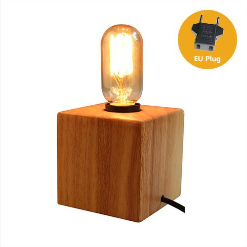 Historická stolová lampa z prírodného dreva so stmievačom1 - Historická stolová lampa z prírodného dreva so stmievačom