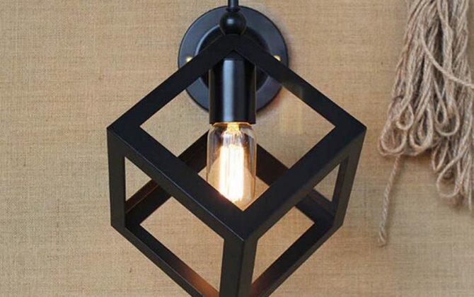 Kreatívne retro nástenné svietidlo v štýle kocky1 670x420 - Kreatívne retro nástenné svietidlo v štýle kocky