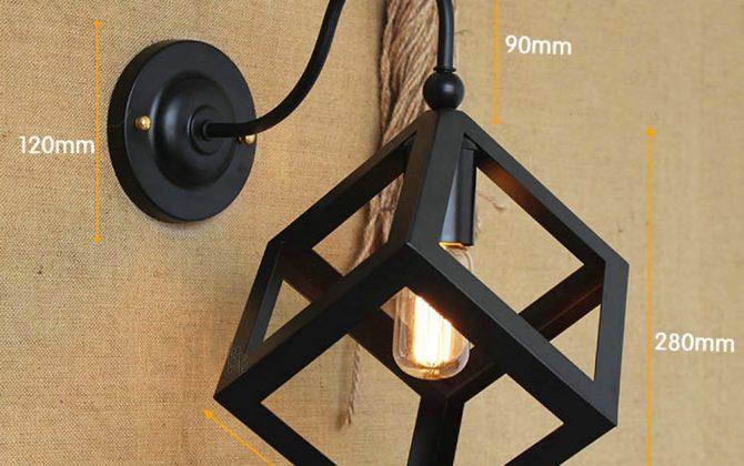 Kreatívne retro nástenné svietidlo v štýle kocky2 670x420 - Kreatívne retro nástenné svietidlo v štýle kocky