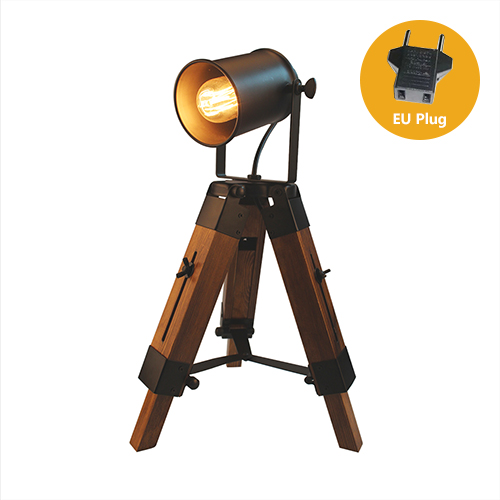 Lampa so stmievačom v štýle Reflektora z prírodného dreva7 - Lampa so stmievačom v štýle Reflektora z prírodného dreva