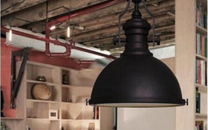 Mohutné stropné reflektorové svietidlo v retro štýle na žiarovky typu E27 670x420 - Mohutné stropné reflektorové svietidlo v retro štýle