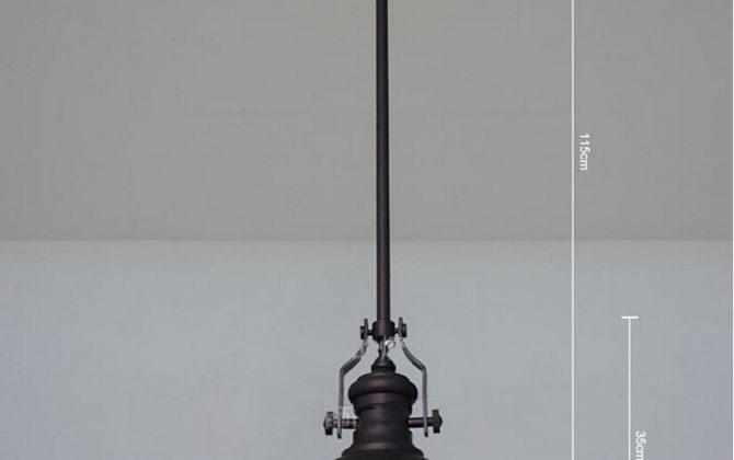 Mohutné stropné reflektorové svietidlo v retro štýle. Svietidlo je vhodné ako hlavné osvetľovacie svietidlo do hotelov barov reštaurácií hál.3 670x420 - Mohutné stropné reflektorové svietidlo v retro štýle