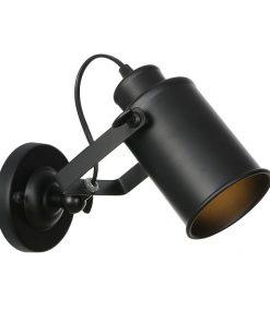 Retro nástenné svietidlo Reflector v čiernej farbe