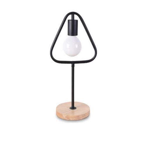 Stolová lampa v tvare trojuholníka s dreveným podstavcom - Stolová lampa v tvare trojuholníka s dreveným podstavcom