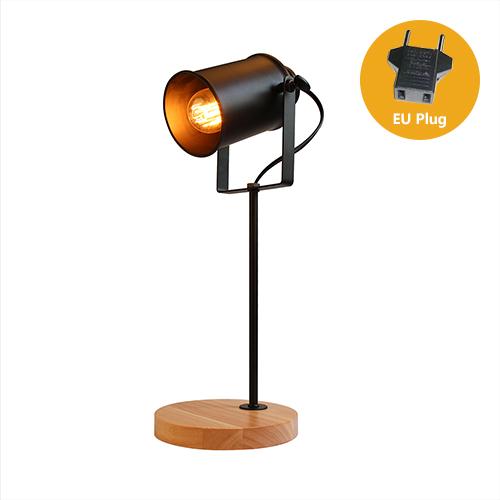 Stolová lampa z prírodného dreva so stmievačom v tvare Reflektora7 - Stolová lampa z prírodného dreva so stmievačom v tvare Reflektora