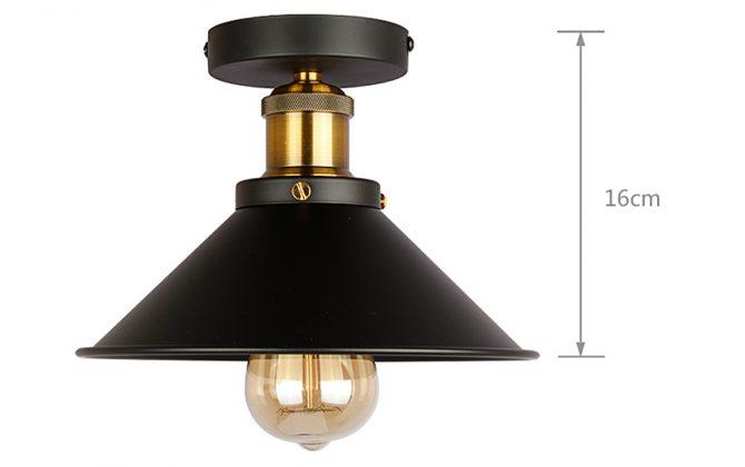 Stropné svietidlo historické s čiernym tienidlom. Svietidlo je vhodné ako hlavné osvetľovacie svietidlo do hotelov barov reštaurácií hál.3 670x420 - Stropné svietidlo historické s čiernym tienidlom