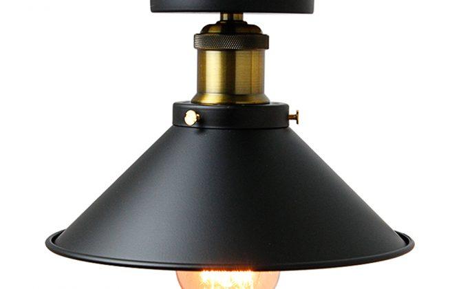 Stropné svietidlo historické s čiernym tienidlom. Svietidlo je vhodné ako hlavné osvetľovacie svietidlo do hotelov barov reštaurácií hál.5 670x420 - Stropné svietidlo historické s čiernym tienidlom