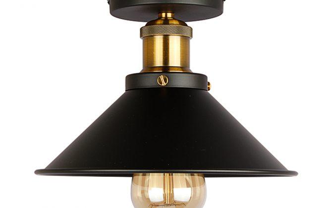Stropné svietidlo historické s čiernym tienidlom. Svietidlo je vhodné ako hlavné osvetľovacie svietidlo do hotelov barov reštaurácií hál.6 670x420 - Stropné svietidlo historické s čiernym tienidlom