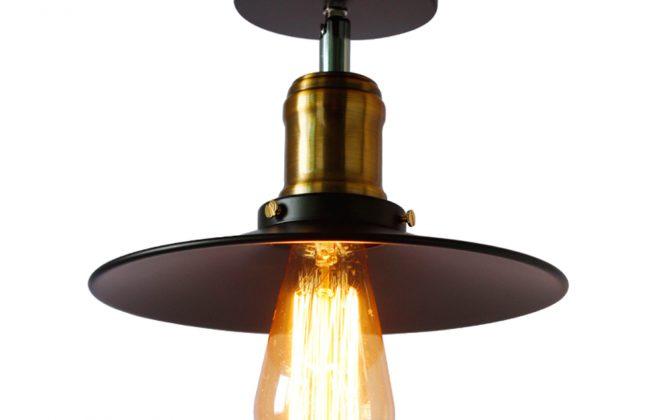 Stropné svietidlo retro s čiernym tienidlom1 670x420 - Stropné svietidlo retro s čiernym tienidlom