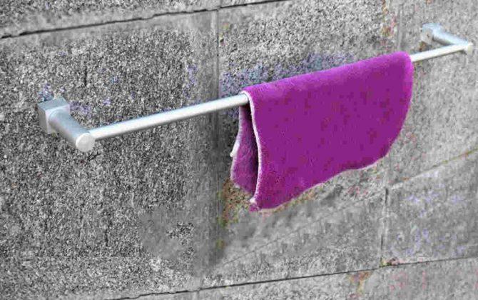 Moderný držiak na uteráky - single