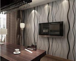 Moderná tapeta so vzorom v tmavo sivej farbe