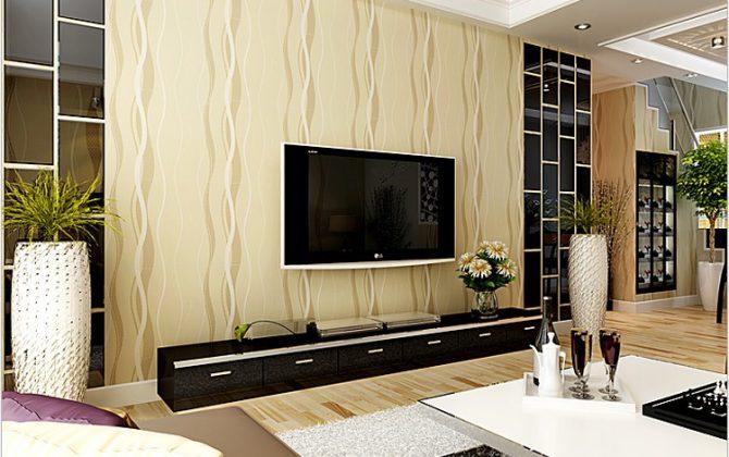 Moderná tapeta so vzorom v zlatej farbe