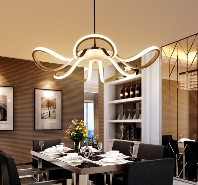 LED Moderné kreatívne závesné svietidlo RIBBON je svietidlo určené na strop v modernom vzhľade6 - LED Moderné kreatívne závesné svietidlo RIBBON