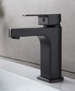 Moderná umývadlová stojanková batéria - čierny mosadz