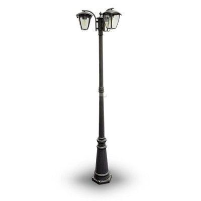 Stojanová záhradná historická lampa TRIPLE POLE. Toto historické stojanovésvietidlo zaručí dostatočné osvetlenie a obdiv každého zvedavca. (2)