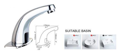 Bez-dotyková vodovodná batéria len na studenú vodu