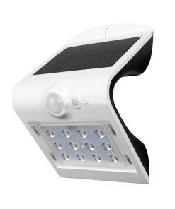 LED solárne nástenné svietidlo v bielej farbe, Denná biela, 1.5W, IP65, 220lm