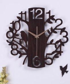 Originálne drevené nástenné hodiny