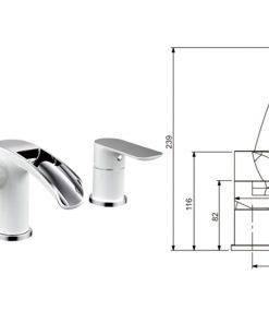 Dizajnová vaňová zostava - batéria, kohútik a sprchová hlavica