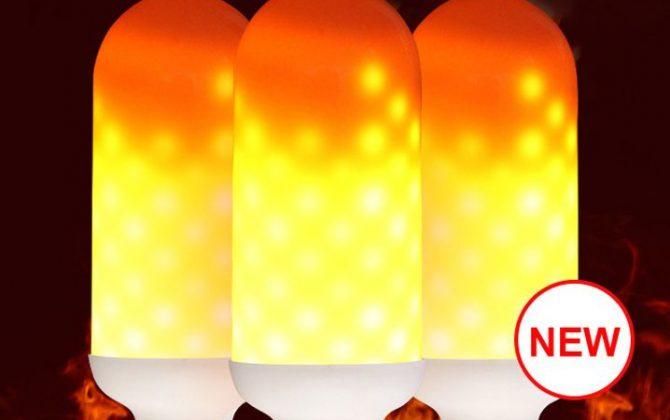 LED žiarovka imitujúca plameň, E27, 3W, Teplá biela, dva módy. LED žiarovka s originálnym naprogramovaním, imituje horiaci plameň, efekt sa znásobí použitím vhodného svietidla s mliečnym sklom (3)