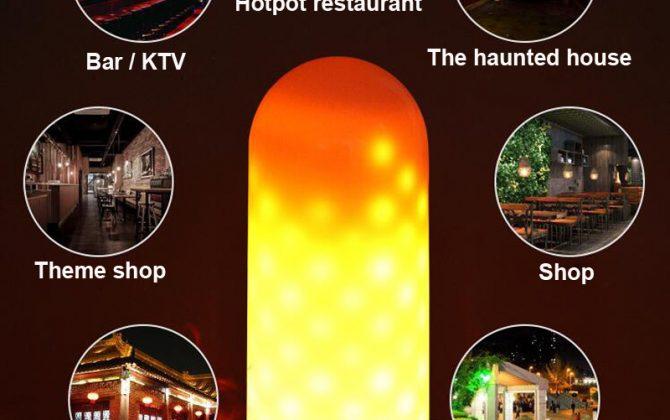 LED žiarovka imitujúca plameň E27 3W Teplá biela dva módy. LED žiarovka s originálnym naprogramovaním imituje horiaci plameň efekt sa znásobí použitím vhodného svietidla s mliečnym sklom 4 670x420 - LED žiarovka imitujúca plameň, E27, 3W, Teplá biela, dva módy