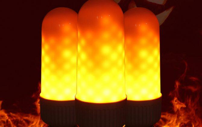 LED žiarovka s naprogramovanými diódami ktorých výsledný efekt pôsobí dojmom horiaceho plameňa použitím svietidla s mliečnym sklom bude tento efekt dokonalý 3 670x420 - LED žiarovka s efektom plameňa, E27, 3W, Teplá biela