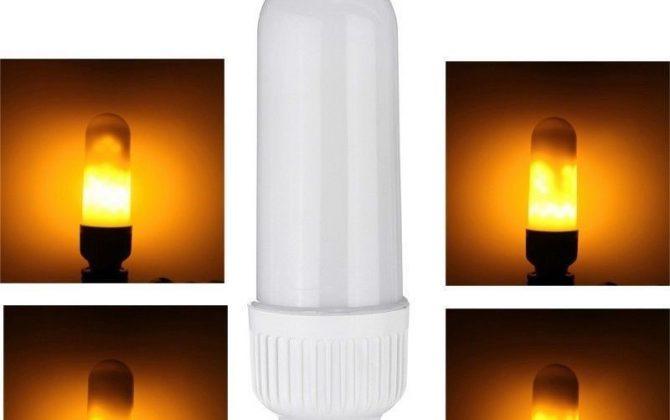 LED žiarovka s naprogramovanými diódami ktorých výsledný efekt pôsobí dojmom horiaceho plameňa použitím svietidla s mliečnym sklom bude tento efekt dokonalý 6 670x420 - LED žiarovka s efektom plameňa, E27, 3W, Teplá biela