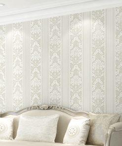 Jedinečná textilná tapeta na stenu so vzorom, béžová farba