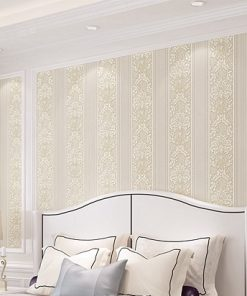 Jedinečná textilná tapeta na stenu so vzorom, svetlo-žltá farba