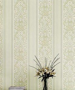 Jedinečná textilná tapeta na stenu so vzorom, svetlo-zelená farba