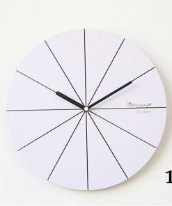 Jednoduché bielo-čierne nástenné hodiny v rôznych štýloch