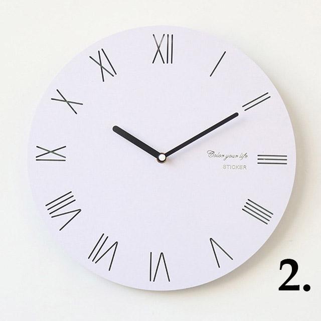 81690c9b5d4 Jednoduché bielo čierne nástenné hodiny v rôznych štýloch2 - Jednoduché  bielo-čierne nástenné hodiny v