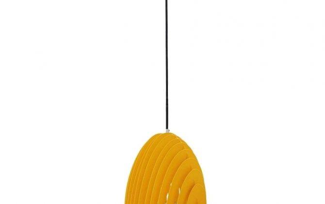 Kovové kuželové závesné svietidlo v žltej farbe 670x420 - Kovové kuželové závesné svietidlo v žltej farbe