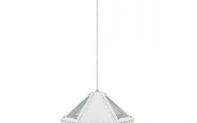 Kovové moderné závesné svietidlo PASTEL v bielej farbe