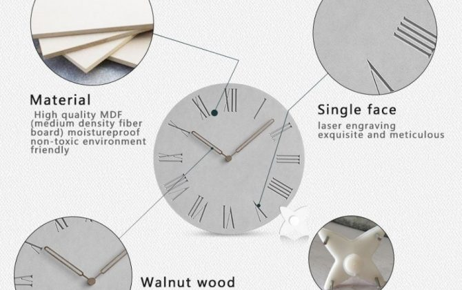 Luxusné drevené nástenné hodiny s rímskymi číslicami