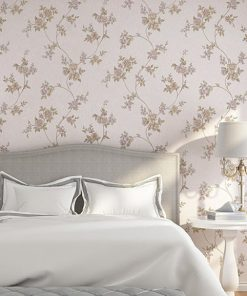Luxusná textilná reliéfna tapeta na stenu s kvetinovým vzorom v rôznych farbách
