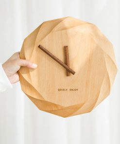 Prírodné luxusné nástenné drevené hodiny