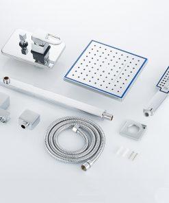 Moderný sprchový set - hlavová sprcha, sprchová hlavica a podomietková batéria