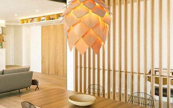 Závesné kreatívne drevené svietidlo ART je kreatívne svietidlo ktoré uchváti každého návštevníka vašich priestorov svojím jedinečným dizajnom. 5 670x420 - Kreatívne drevené svietidlo závesné - ART, priemer 25cm