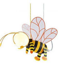 Detské závesné svietidlo v tvare Včielky. Toto kreatívne detské svietidlo vytvorí správnu atmosféru na hranie, učenie alebo zábavu v detskej izbe (2)