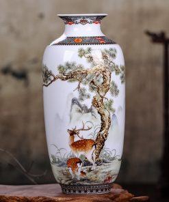 Elegantná keramická váza v šiestich dekoratívnych vzoroch