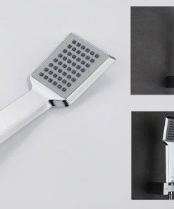Chrómový sprchový set s ručnou a hlavovou sprškou