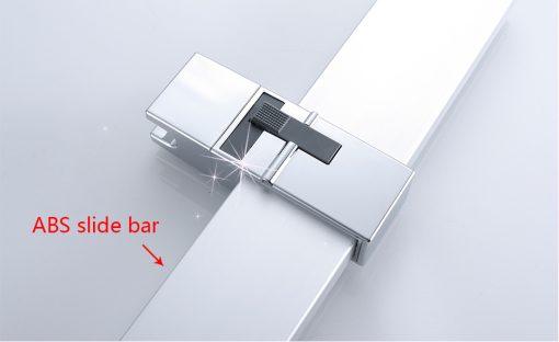 Chrómový sprchový panel s ručnou a hlavovou sprškou