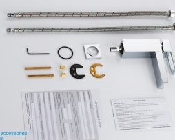 Dizajnová stojanková umývadlová batéria s vodopádom vody
