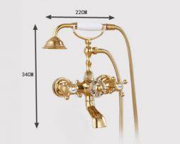 Prepracovaná vaňová batéria a sprcha s umelým nefritom