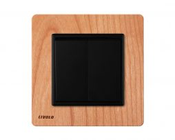Livolo EU standard Manufacturer Luxury Natural Wood Panel Push Button 2Gang 2 Way Switch Smart Home 254x203 - Luxusný mechanický vypínač č.5B v drevenom prevedení