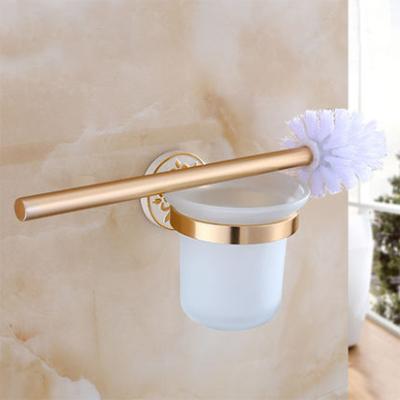 Elegantný držiak na WC kefu v zlato bielej farbe 1 - Elegantný držiak na WC kefu v zlato-bielej farbe