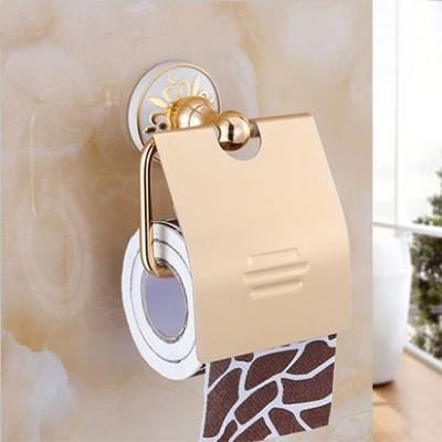 Elegantný držiak na toaletný papier v zlatej farbe
